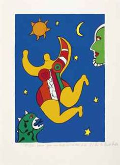 View Nana by Niki de Saint Phalle on artnet. Browse upcoming and past auction lots by Niki de Saint Phalle. Jean Tinguely, Tarot, French Sculptor, Sculpture, Disney Characters, Fictional Characters, Driftwood, School, Letters