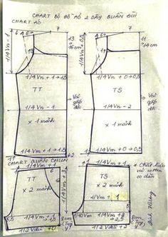 Bộ mặc nhà 1.a Barbie Sewing Patterns, Clothing Patterns, Dress Patterns, Draping Techniques, Sewing Techniques, Sewing Clothes, Diy Clothes, Hai Day, Pattern Drafting