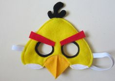Yellow angry bird felt craft template | jill of all trades, master of none.: Tutorial: Yellow Angry Bird Mask