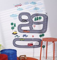These fun wall stickers featuring 8 vehicles and 2 roads are the perfect way to add some fun to your son's bedroom, if he loves cars, he will love these!