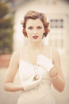 Vintage wedding hairstyles for short hair #weddinghairstyles