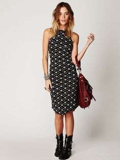WANT!!!  Free People Floral Shirt Tail Pucker Dress, $128.00
