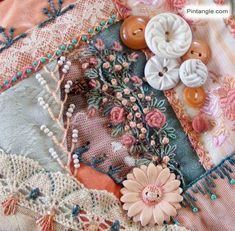 Crazy Quilt Block 93 Pattern and Hand Embroidery Details - Pintangle Crazy Quilt Stitches, Crazy Quilt Blocks, Quilt Block Patterns, Crazy Quilting, Sewing Patterns, Machine Embroidery Thread, Embroidery Stitches, Quilt Material, Crazy Patchwork