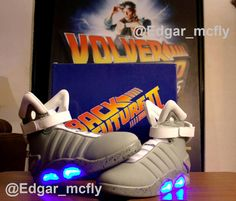 Nike Air Mags (Universal Studios Licensed) (USA)  #BackToTheFuture #delorean #martymcfly #docbrown #BTTF #volveralfuturo #coleccion #collection #biff #vaf #mcfly #pepsiperfect #80s #hueylewis #nike #tenis #shoes