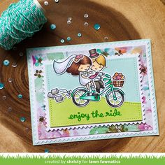wedding scene usingBicycle Built for Youwith the bride and groom colored to look like the happy couple