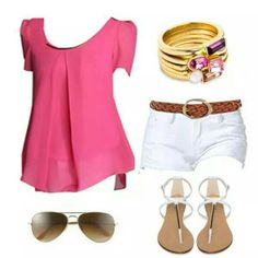 Summer style Colored Shorts Outfits, Short Outfits, Tips, Summer, Style, Fashion, Moda, Fashion Styles, Summer Recipes