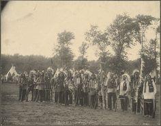 Band of Sioux Warriors, F.A. Rinehart, 1898
