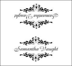 wedding name card template free