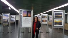 Minha Exposição, com 40 fotos do por do sol, no Metrô de São Paulo , SP - Brasil