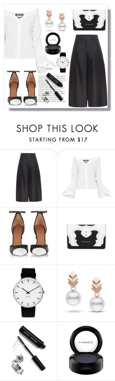 """""""Black & White"""" by navyradr-1 ❤ liked on Polyvore featuring Valentino, Jacquemus, Givenchy, Rosendahl, Escalier, Bobbi Brown Cosmetics and MAC Cosmetics"""