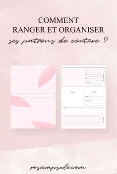 Comment ranger et organiser ses patrons de couture ? ( + fiches gratuites à imprimer) • Rose Capsule