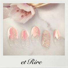 """210 Likes, 2 Comments - et Rire TOKYO manicurist MAKI (@etrirenail) on Instagram: """"etRire☆Spring Nail Collection 春の新作 花びらフレンチネイル ブログで春の新色も掲載中♡ HP:http://www.etrire.jp ◆ネイルサロンエリール◆…"""""""