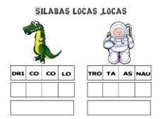 Compartimos este excelente material para primer grado de primaria el cual lleva por nombre silabas locas y se trata que