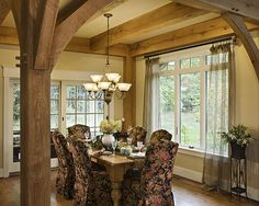 The Lexington Timber Frame Home - Dining Room | Flickr - Photo Sharing!