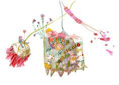 Colorhood - Dreamy by Cristiana Radu Illuminated Manuscript, Her Style, Art Nouveau, Japanese, Culture, Illustrations, Christmas Ornaments, Holiday Decor, Drawings