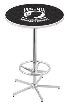 Pub Table with Retro Base - POW/MIA