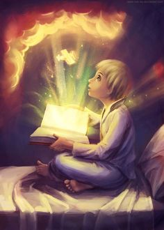 """Books are a uniquely portable magic. -- Magic book by ~Mar-ka on deviantART I Love Books, Good Books, Fantasy World, Fantasy Art, Magia Elemental, Art Tumblr, Reading Art, Reading Cartoon, Children Reading"