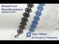 Free Bead Patterns and Ideas : Round Lace Bracelet (update) - free pattern