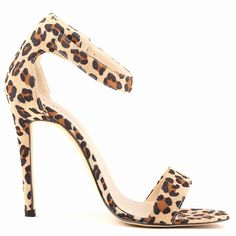 Women's Pumps High Heels Sandals Shoes Leopard Pattern 11 CM Fashion Pant Leather Comfort And Simple Luxury Famous Brand Style