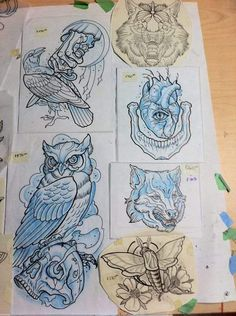 Owl tattoo idea.