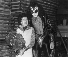 Gene Simmons (and his mom) — Lynn Goldsmith