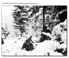 The American 75th Division in action in Ardennes