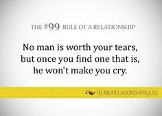 No man is worth your tears. Best Quotes, Love Quotes, Share My Life, Relationship Rules, Relationships, Make You Cry, Bad Timing, Moving Forward, Helping People