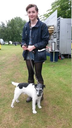 Georgia from Louth was strolling round the show with her adorable terrier, Alfie. We were impressed with her cute and kooky take on country style; teaming demin cut-offs with Dubarry boots, opaque tights and a classic wax jacket. Looking good! (and yes, Alfie, we mean you too!) Dubarry Boots, Wax Jackets, Opaque Tights, Barbour, Good Old, Well Dressed, Country Style, Dapper, Georgia