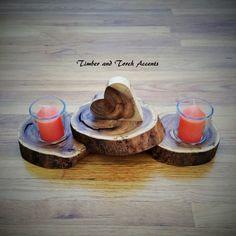 Wood heart votive holder Wood tea light holder Rustic table