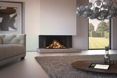 DRU Maestro Eco Wave gas fire - Van Manen fireplaces and stoves Contemporary Gas Fires, Contemporary Fireplace Designs, Modern Fireplace, Gas Fireplace, Foyers, O Gas, Square Canvas, Foyer Decorating, Sweet Home