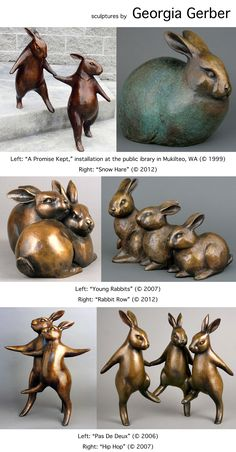 Bronze sculptures by Georgia Gerber (© 1999-2012)