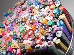many decorative erasers