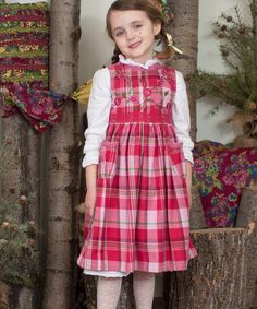 Loving this Pink Plaid Cabin Dress - Toddler & Girls on #zulily! #zulilyfinds