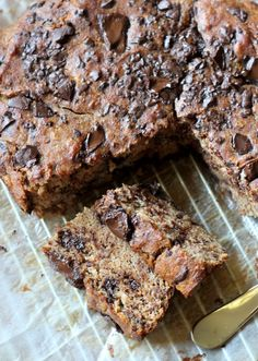 Chocolate Chunk Banana Bread (Paleo friendly and uses no sugar or sweetener except for bananas)
