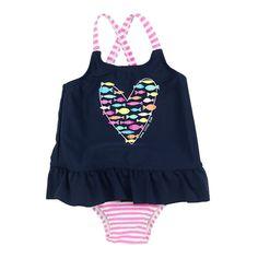 90f8b018b37c1 Kiko & Max One Piece Swimsuit Baby Girls Baby Girl Swimsuit, Toddler Boys,  Infant