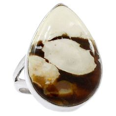 Peanut-Wood-925-Sterling-Silver-Ring-Jewelry-s-8-5-SR172210