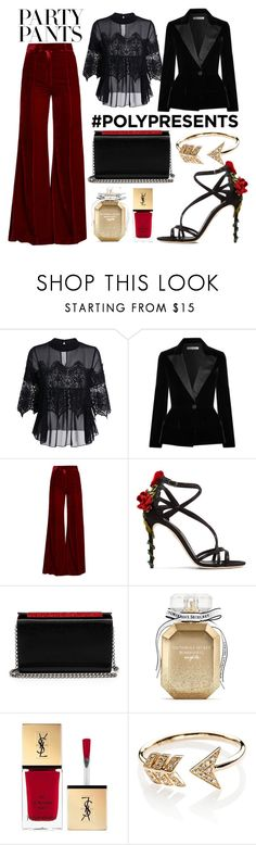 """""""#PolyPresents: Fancy Pants"""" by itsjana ❤ liked on Polyvore featuring Oscar de la Renta, Racil, Dolce&Gabbana, Christian Louboutin, Victoria's Secret, Yves Saint Laurent, EF Collection, contestentry and polyPresents"""