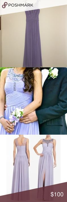 Light Violet , Long Dress, Decorative beading Its in good condition to wear to a special Occassion  - on the top top left side the some beading became undone. Shouldn't be a problem, barely noticeable especially with you're hair down. BCBGMaxAzria Dresses Prom