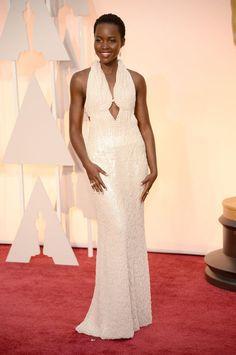 Lupita Nyong'o in custom Calvin Klein at the 2015 Oscars