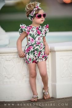 Floral Rompers and trendy fashion Boutique for Baby Girls and Toddlers.