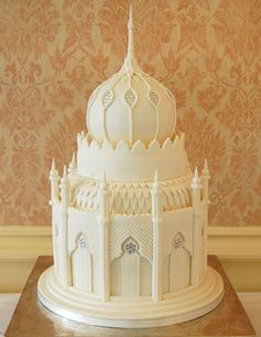White Mosque/Castle Wedding Cake <3