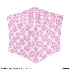 Pink flower pattern pouf Flower Patterns, Flower Designs, Make Your Own, Make It Yourself, Pink Cushions, Decorative Cushions, Artwork Design, Pink Flowers, Soft Light