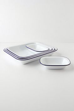I also have several types of enamel bakeware for sale in assorted colors....  It is all oven and dishwasher safe, and cleans up beautifully!  No ugly grease stains or dark spots on your baking pans or cookie sheets.....  :)