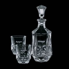 Promotional Products Ideas That Work: Foxborough Decanter & 2 On-the-Rocks. Get yours at www.luscangroup.com