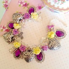 Pretty Bouquet – Vintage inspired floral charm bracelet | Cherished Trinkets – Vintage Inspired Handmade Jewellery - vintage handmade jewellery