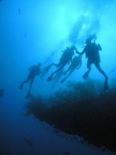 Scuba diving in Australia.