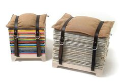 I can make this with a piece of wood, casters on the bottom, national geographic mags, pillow and two riding belts.