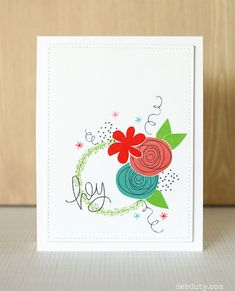 deb duty papercrafting: simon says stamp favorite flowers