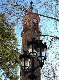 La plaça de la vila, al barri de Gràcia. Barcelona (Catalonia)