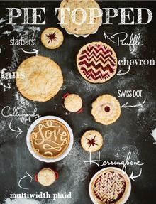 Sundays are made for baking. For taking that time that you might not have during the crazy week to find your ahhh in your kitchen, hands deep into butter and flour and sugar. Well, with Thanksgiving Day merely days away, we thought we'd share a few fun toppers to inspire your lazy Sunday pie making.…